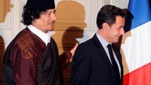 Nicolas Sarkozy ha sido acusado de haber financiado su campaña presidencial de 2007 con dinero de la Libia de Muamar Gadafi.