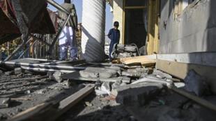 منزل تضرر بصاروخ في حي خير خانة بشمال غرب العاصمة الأفغانية كابول في 21 تشرين الثاني/نوفمبر 2020