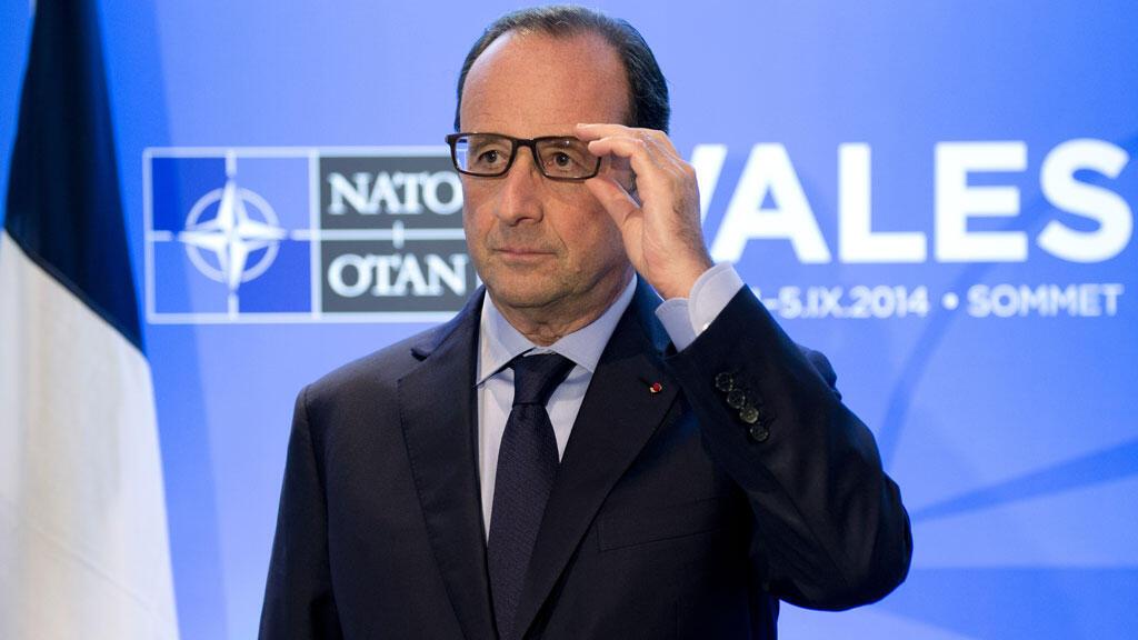 François Hollande au sommet de l'Otan, jeudi 4 septembre.
