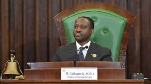 Guilliame Soro en désaccord avec le président ivoirien Alassane Ouattara a démissionné de son poste de président de l'Assemblée nationale, le 8 février 2019.