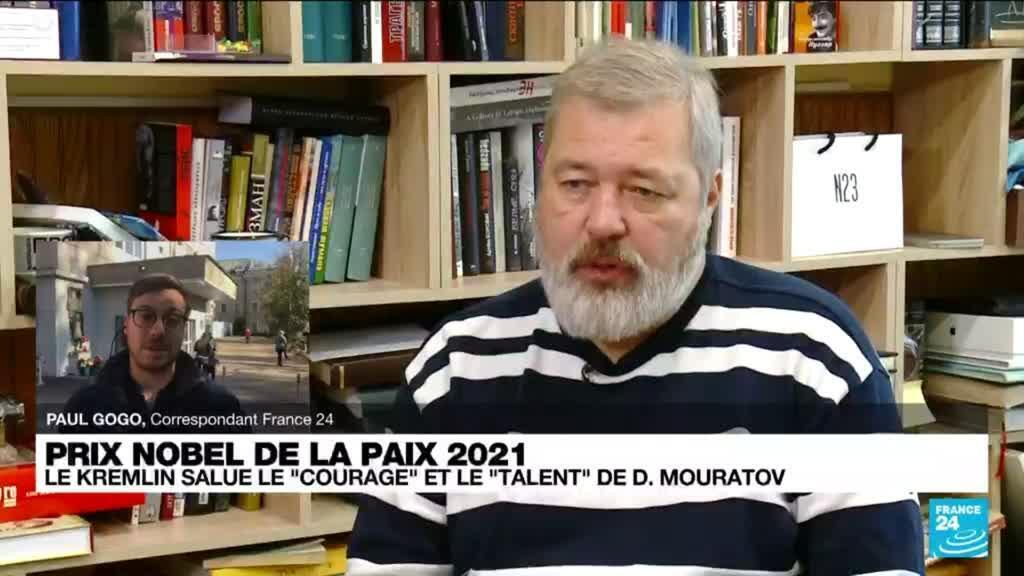 2021-10-08 13:05 Mouratov dédie son Nobel à Novaïa Gazeta et ses journalistes tués