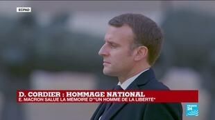 """A final national tribute paid to the Invalides to Daniel Cordier, a """"free Frenchman"""""""