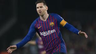 نجم فريق برشلونة الإسباني والمنتخب الأرجنتيني ليونيل ميسي