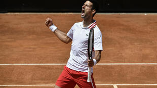 Serbia's Novak Djokovic came a set down to reach the Italian Open semi-finals.