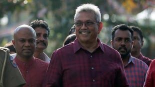 Sri Lanka People's Front party presidential election candidate and former wartime defence chief Gotabaya Rajapaksa leaves after casting his vote during the presidential election in Colombo, Sri Lanka November 16, 2019.