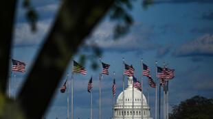 Esta foto de archivo del 10 de abril de 2020 muestra el domo del Capitolio de Washington