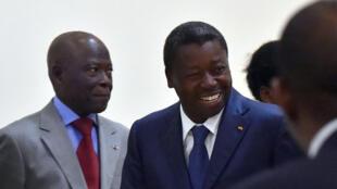 Le chef de l'État sortant, Faure Gnassingbé, le 28 avril à Lomé.