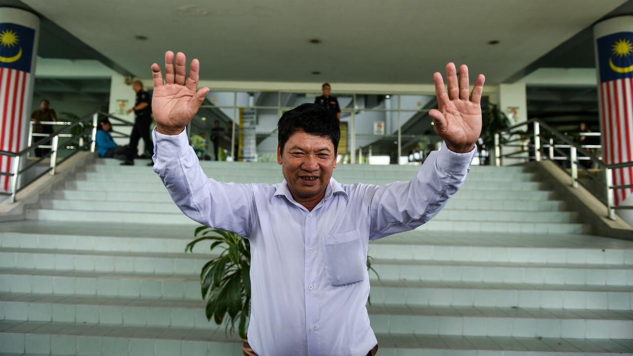 El padre de Doan Thi Huong, el vietnamita Doan Van Thanh, a la salida de la corte de Shah Alam , en Malasia. 1 de abril de 2019.