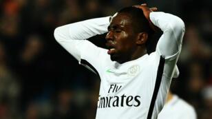 Le défenseur parisien Presnel Kimpembe durant la défaite du PSG face à Montpellier, le 3 décembre.