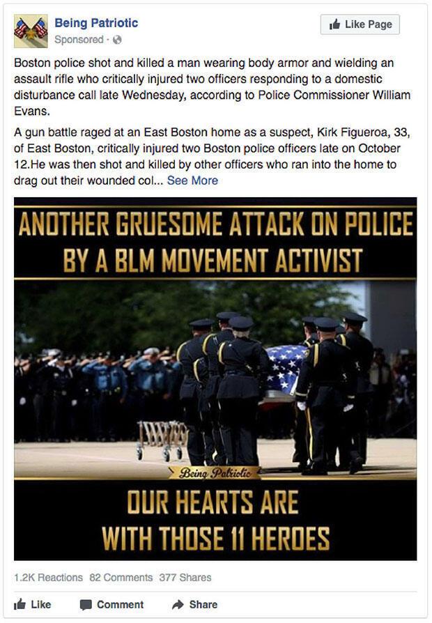 """""""Une autre attaque horrible par un militant du mouvement 'Black Lives matters'"""""""