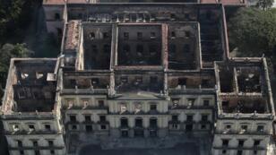 El Museo de Río de Janeiro, arrasado por las llamas, el 3 de septiembre de 2018.