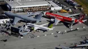 منظر جوي من مطار لوبورجيه القريب من باريس حيث تقام فعاليات المعرض الدولي للطيران 17 يونيو/حزيران 2019