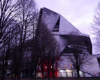 The Philharmonie is nestled in a park next to other concert halls and the French capital's busy ring road.