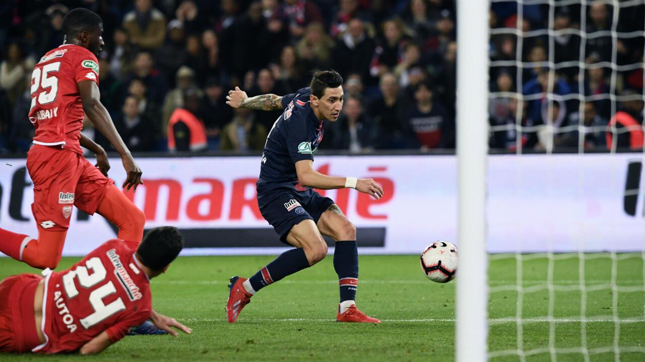 L'Argentin Angel Di Maria s'est offert un doublé contre Dijon.