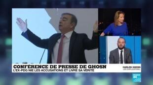 2020-01-08 20:10 Conférence de presse de Ghosn : l'ex-PDG nie les accusations et livre sa vérité