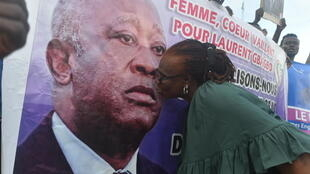 cote ivoire gbagbo pancarte