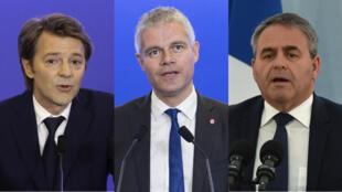 Les entourages de François Baroin, Laurent Wauquiez et Xavier Bertrand démentent avoir enregistré ces noms de domaine.