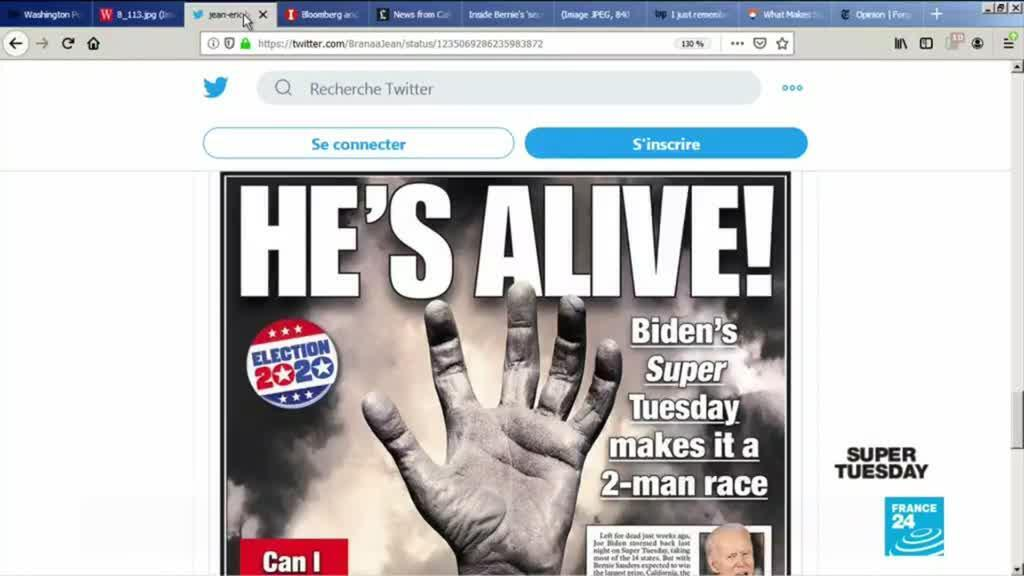2020-03-04 10:05 US Democratic Primary: Press reacts to Super Tuesday