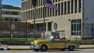 L'ambassade des Etats-Unis à Cuba, à La Havane