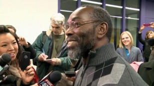 Ricky Jackson speaks to reporters following his exoneration after 39 years on death row