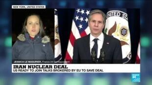 2021-02-19 09:32 Biden repudiates Trump on Iran, ready for talks on nuclear deal