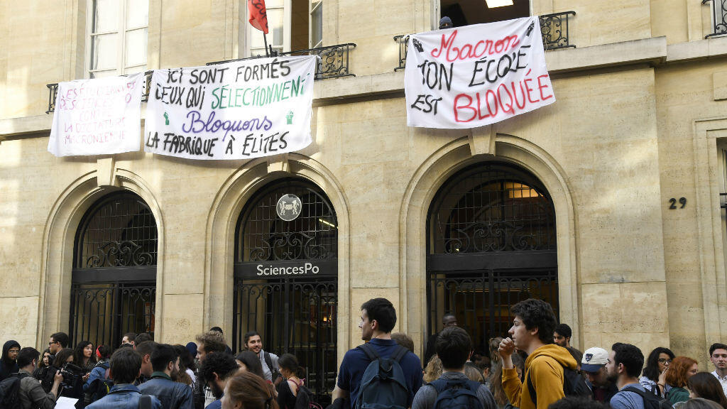 اعتصام طلاب في كلية العلوم السياسية في باريس