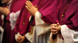Des évêques allemands, le 21 septembre 2010, lors de la Conférence épiscopale allemande, à Fulda.
