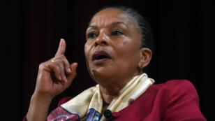 Christiane Taubira, le 29 janvier 2016, sur le campus de NYU à New York.