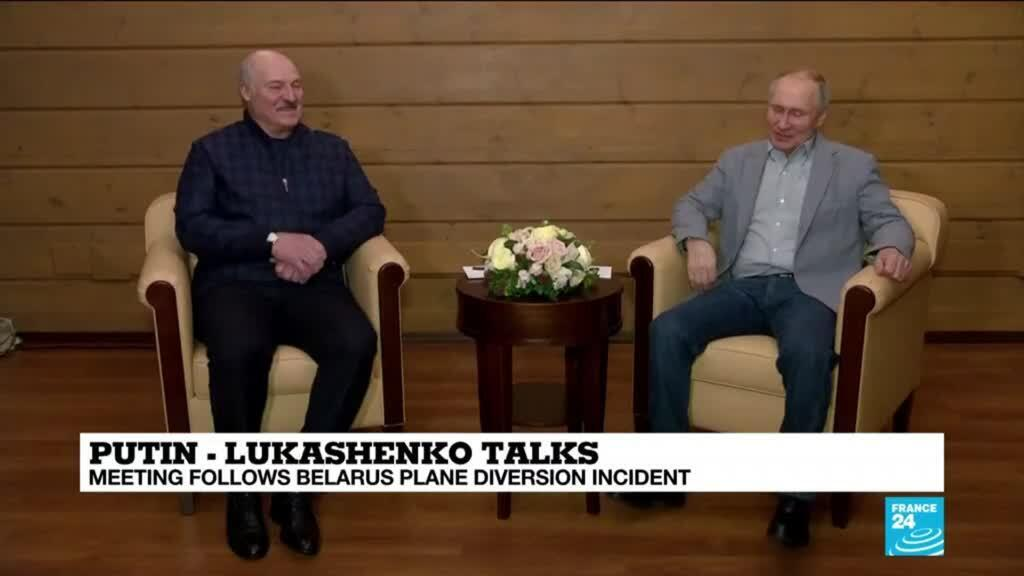 2021-05-28 13:31 Belarus leader flies into Russia for talks with Putin amid uproar over 'air piracy'