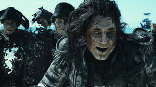 """Javier Bardem dans """"Pirates des Caraïbes 5 : la vengeance de Salazar""""."""