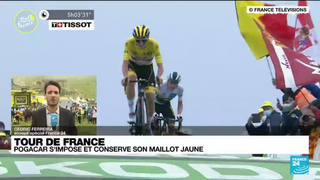 2021-07-14 18:01 Tour de France : Pogacar s'impose et conserve son maillot jaune