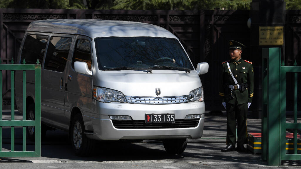 La dépouille de Kim Jong-nam aurait quitté l'ambassade de la Corée du Nord à Pékin dans ce van le 31 mars 2017.