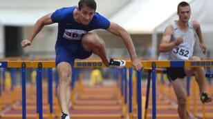 L'athlète russe Sergey Shubenkov, mercredi 20 juillet 2016, lors d'un meeting d'athlétisme à Zhukovsky, dans la banlieue de Moscou.