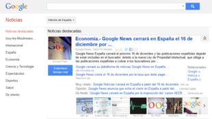 Google va fermer son site d'actualités espagnol le 16 décembre.