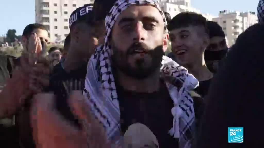 2021-05-19 13:32 Protestas en Cisjordania en apoyo a los palestinos en Gaza