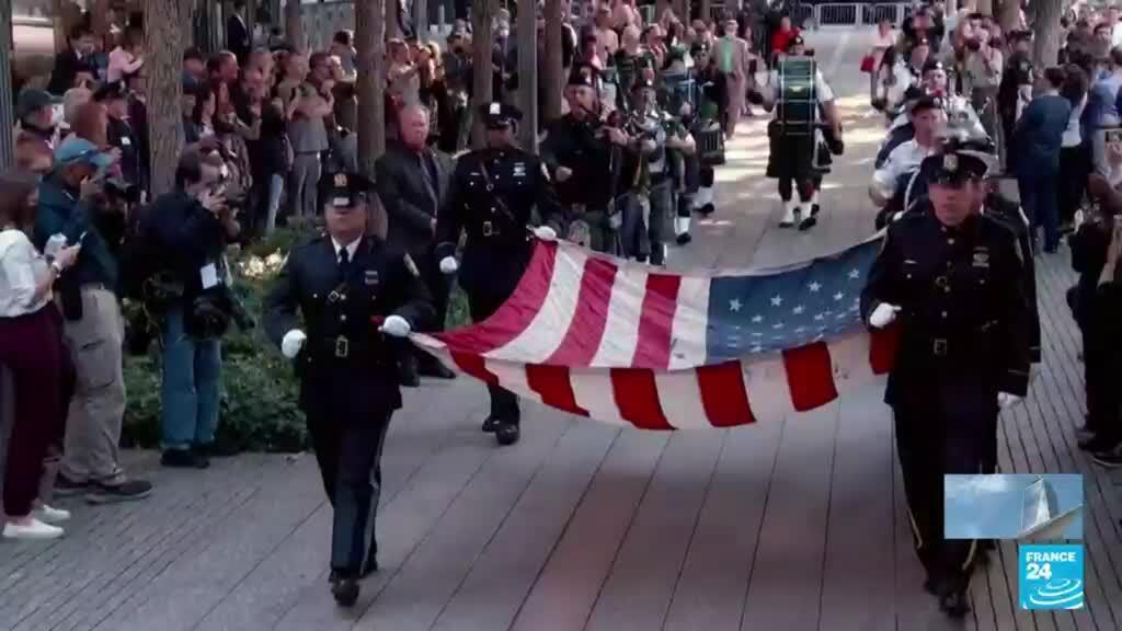 2021-09-12 01:01 Estados Unidos rindió homenaje a las 3.000 víctimas del ataque terrorista del 11-S
