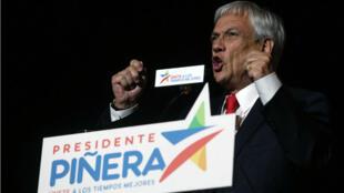 Sebastian Piñera a obtenu 54,58 % des suffrages le dimanche 17 décembre.