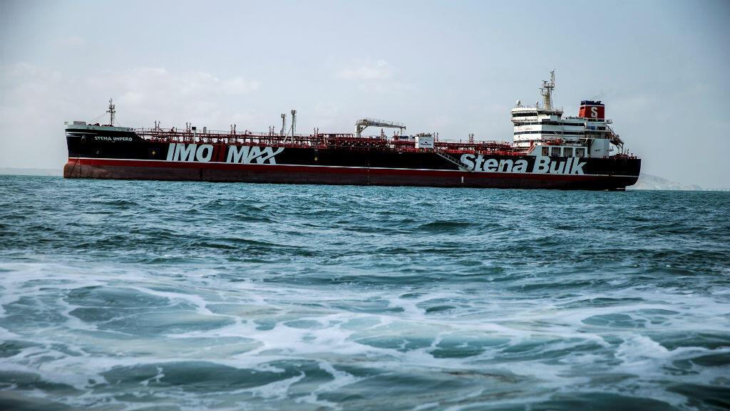 Stena Impero, una embarcación de bandera británica propiedad de Stena Bulk. La costa de Bandar Abbas, Irán, 26 de agosto de 2019.