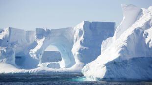 Des icebergs en Antarctique.