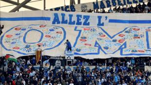 Les supporteurs de l'OM avant un match contre Nantes, le 22 février 2020 à Marseille
