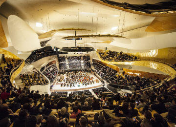 The Philarmonie's state-of-the-art auditorium can be adapted to meet the requirements of different musical genres.