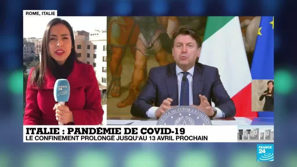 2020-04-02 09:06 Coronavirus : L'Italie prolonge son confinement jusqu'au 13 avril