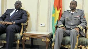 Le général Diendéré s'est entretenu à Ouagadougou avec le président de la Cédéao Macky Sall, le 18 septembre 2015.