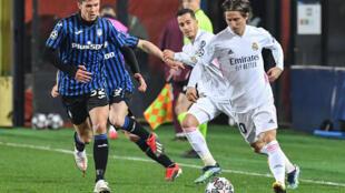 Le Real Madrid de Luka Modric affrontait l'Atalanta Bergame en huitième de finale de Ligue des champions, mercredi 24 février.