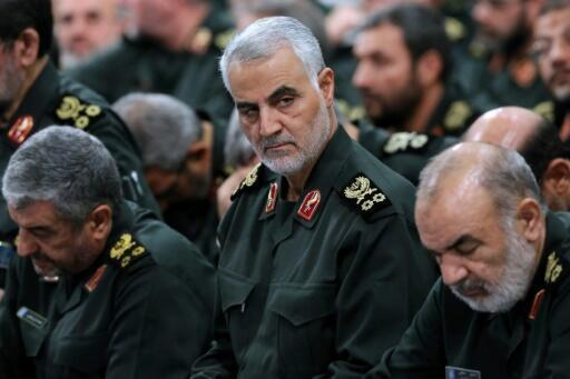 General Qassem Soleimani (centre) was widely regarded as the second most powerful figure in Iran after Supreme Leader Ayatollah Ali Khamenei.