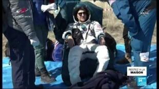 2020-04-17 18:10 Retour sur Terre de l'équipage de l'ISS en pleine pandémie de Covid-19