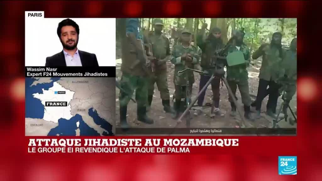 2021-03-29 16:01 Attaque jihadiste au Mozambique : le groupe EI revendique l'attaque de Palma