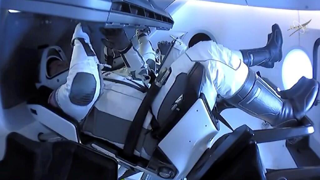 Los astronautas de la misión de SpaceX en su vuelta a la Tierra. 2 de agosto de 2020.