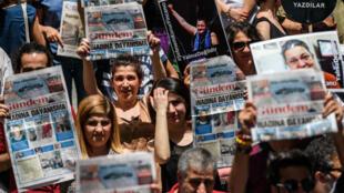 مظاهرة من أجل حرية الصحافة في تركيا