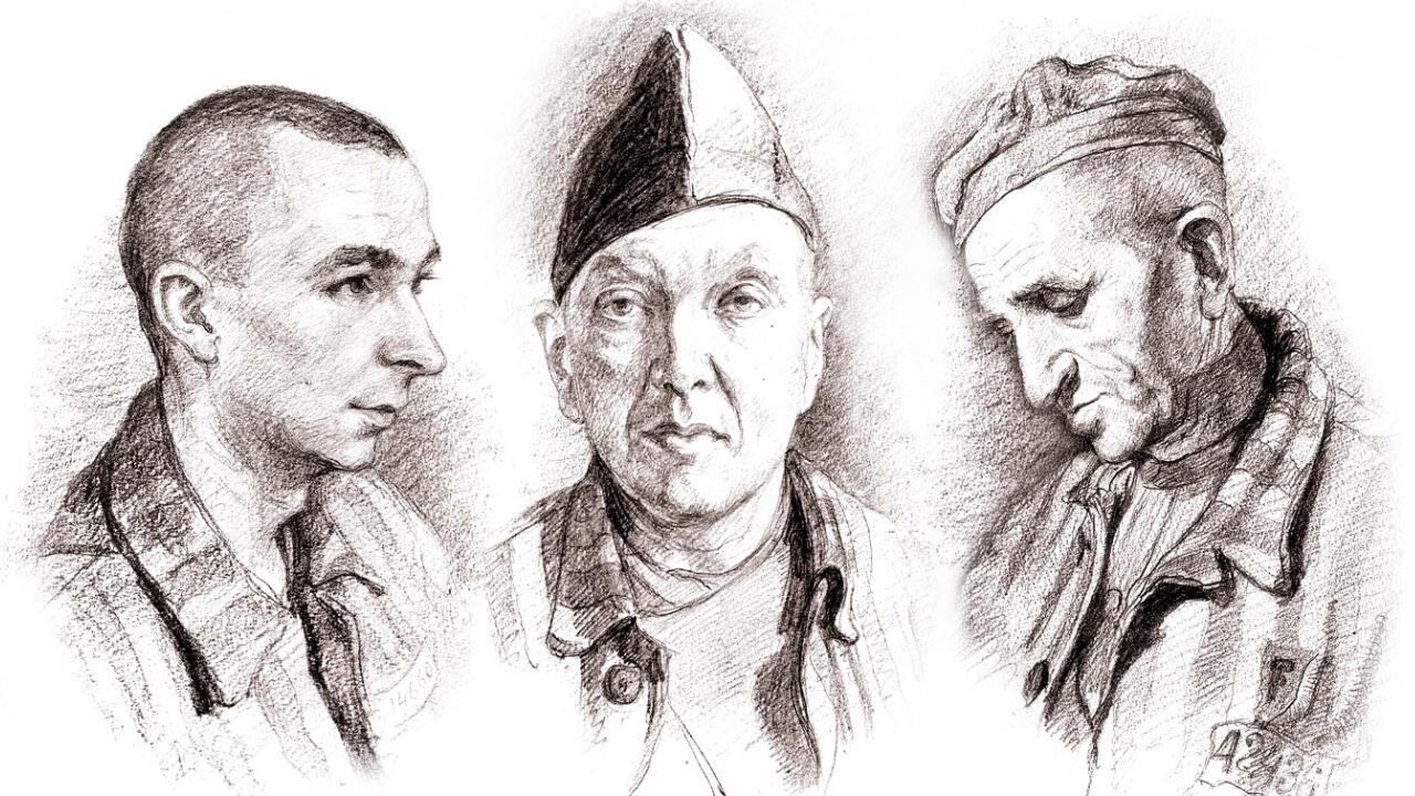 Des croquis clandestins réalisés par le déporté Léon Delabre.